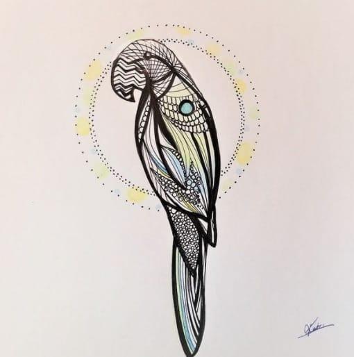 bird bicep tattoo idea