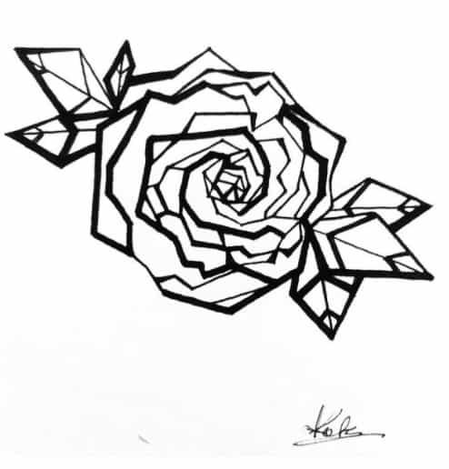 rose bicep tattoo idea