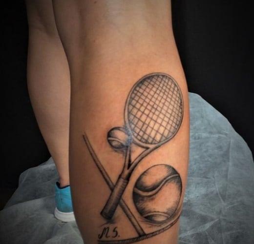 tenis design calf tatto