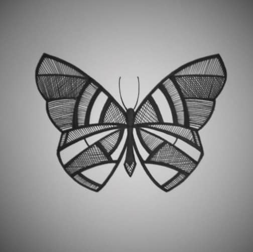 design butterfly tattoo on ribs
