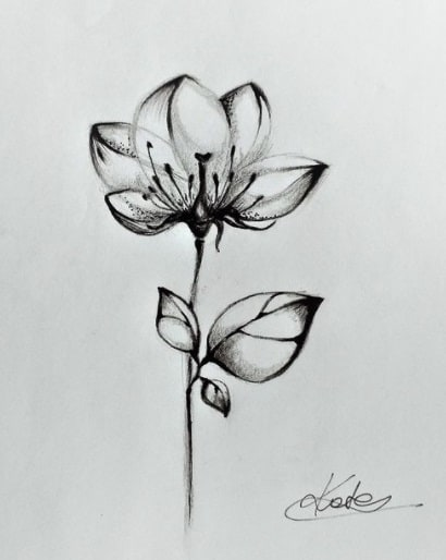 flower for woman tattoo on ribs design