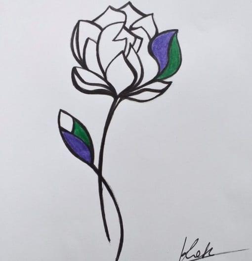 lotus flower tattoo on ribs design
