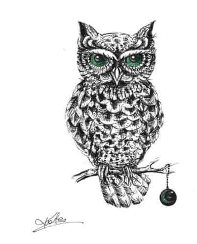 owl tattoo on ribs design