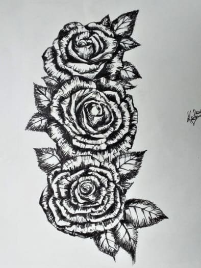 roses tattoo on ribs design roses