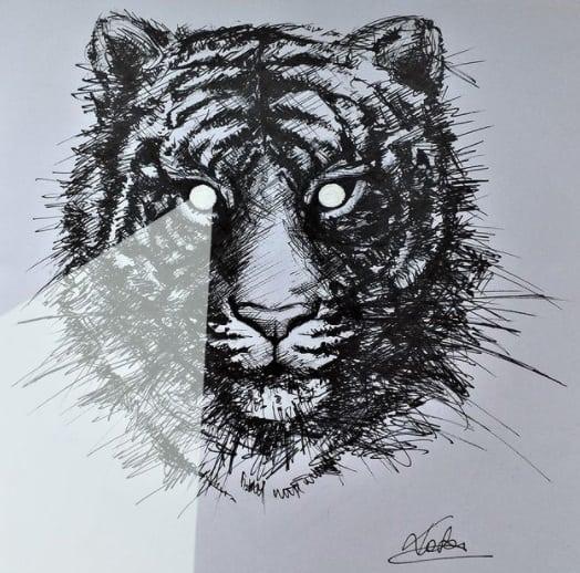 tiger tattoo on ribs design