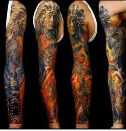 native american tattoo sleeves