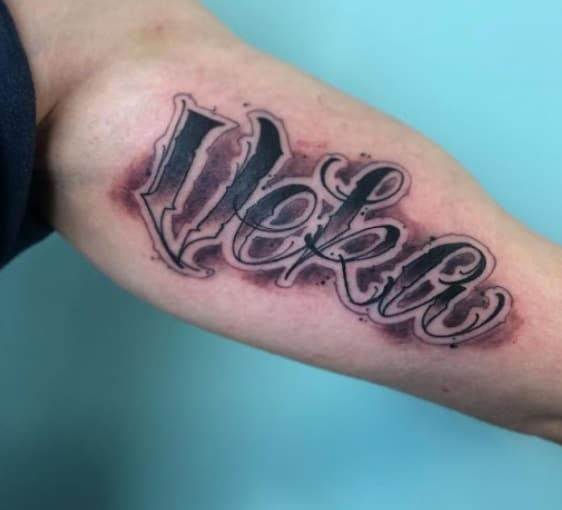 Example of tattoo with graffiti