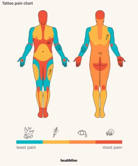 Tattoo pain chart if you are a man