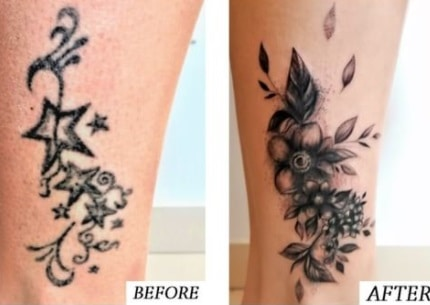 Cover is a good option to fix too shaded tattoo