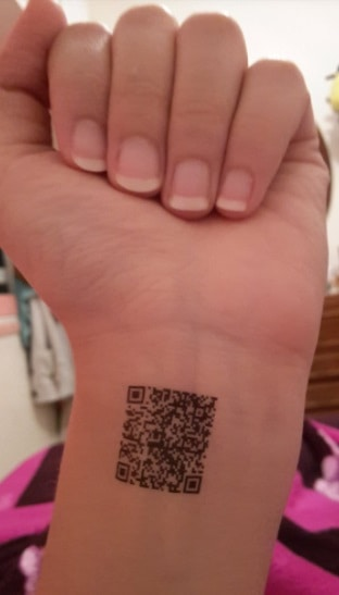 Tattoo with QR code