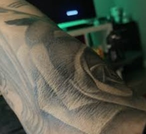 example of tattoo on a wrinkled skin