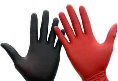 nitrile gloves in different colors