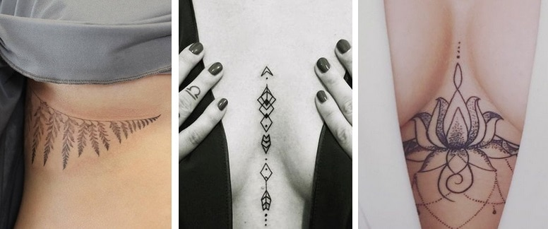 tattoos under and between brests