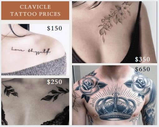 clavicle tattoos prices example