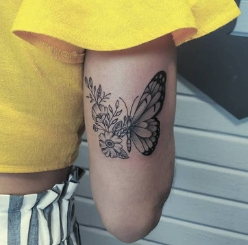 back of arm tattoo butterfly examples of