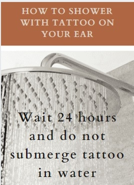 new ear tattoo how to shower with