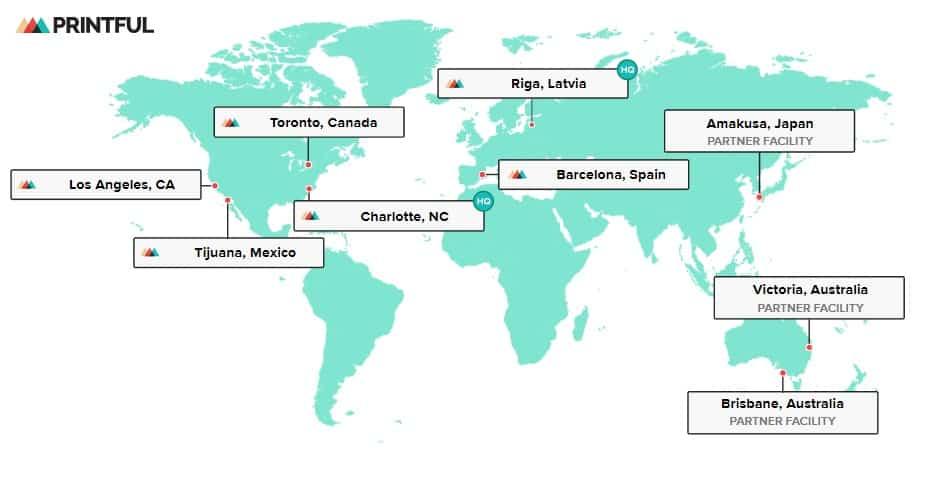 location map print