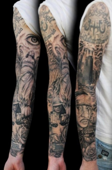 Sleeve tattoo can stretch with body changes