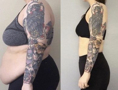 weight lost and tattoo