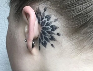 behind the ear for women tattoo