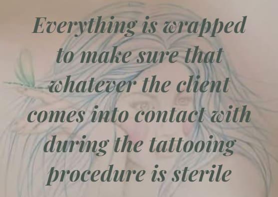 Sterile tattoo studio