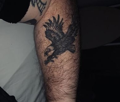 hairy arm tattoo