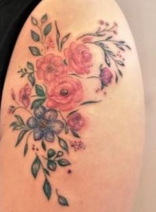 upper thigh tattoo