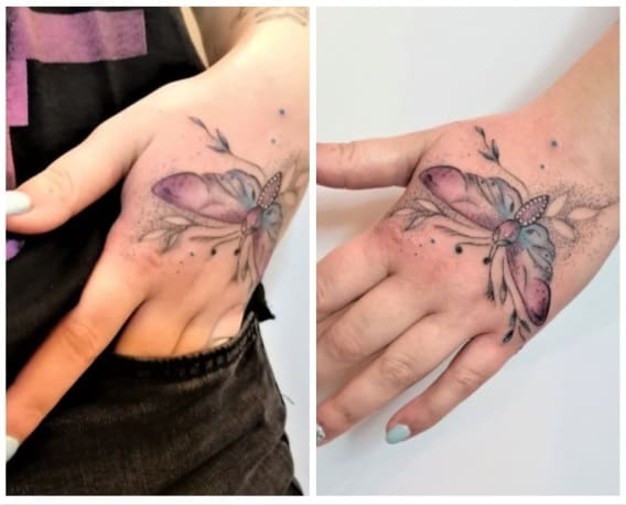 Hand tattoo made by me