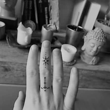 Tattoo on finger made by me